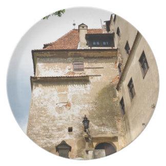 Dracula Castle in Bran, Brasov, Transylvania Plate