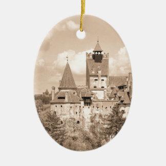 Dracula Castle in Transylvania, Romania Ceramic Ornament
