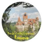 Dracula Castle in Transylvania, Romania Plate