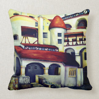 Dracula Castle - the interior courtyard Cushion