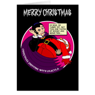 Dracula Christmas Shopping Card