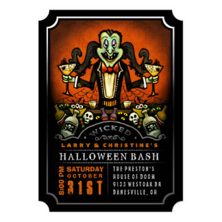 Dracula Halloween Bash Party Fun Invitation