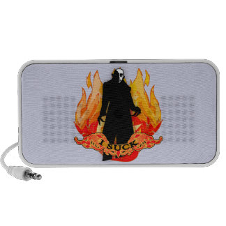 Dracula Nosferatu I SUCK with Flames Travel Speakers