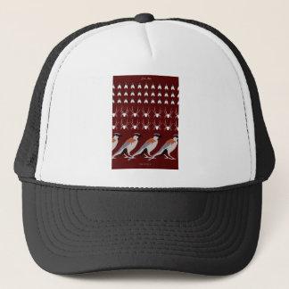 Dracula print trucker hat
