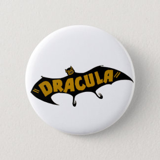 Dracula Vampire Bat 6 Cm Round Badge