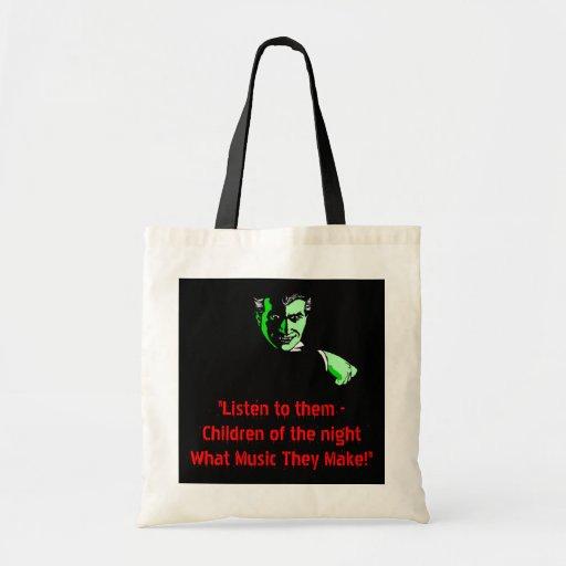 Dracula Vampire Halloween Trick or Treat Tote Bag