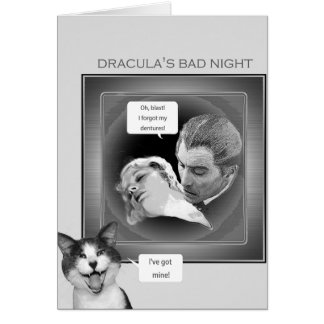 Dracula's bad night card