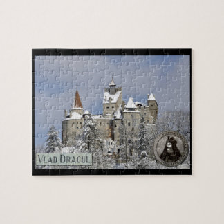 Dracula's castle at Bran in winter Jigsaw Puzzle