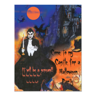 Dracula's Castle Halloween Party Invitation