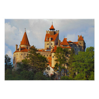 Dracula's castle,hilltop eerie poster