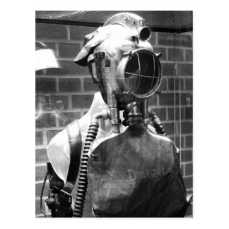 Draeger Breathing Helmet with head lamp Postcard
