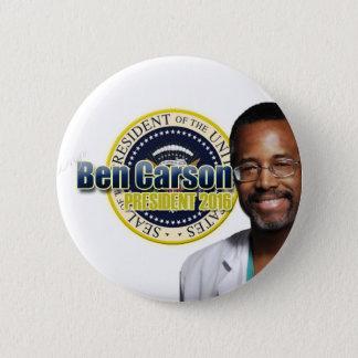 Draft Ben Carson for President 6 Cm Round Badge