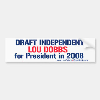 Draft Dobbs 2 Bumper Sticker