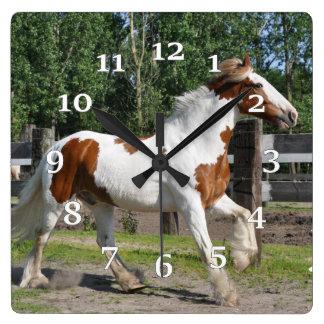 Draft Horse Square Wall Clock