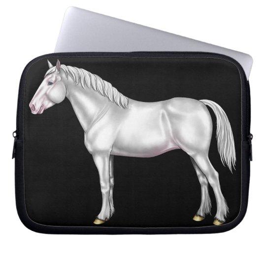 Draft Horse - White Laptop Sleeve