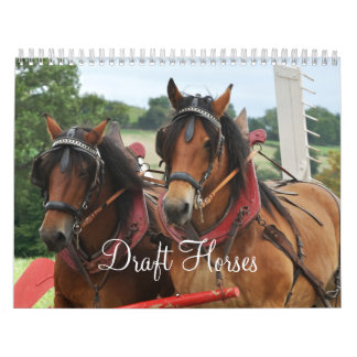 Draft Horses 2016 Wall Calendars