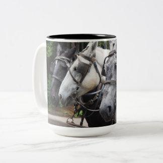 Draft Horses 842 Two-Tone Coffee Mug