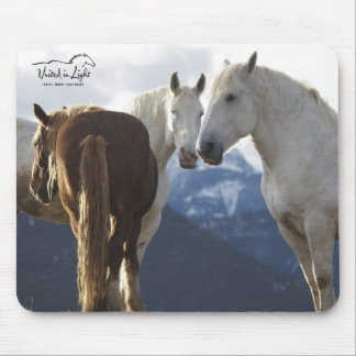 Draft horses mouse pad