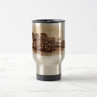 Draft Horses Stainless Steel Travel Mug