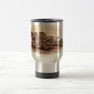 Draft Horses Travel Mug