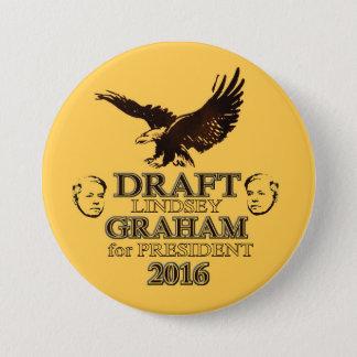 Draft Lindsey Graham 2016 7.5 Cm Round Badge