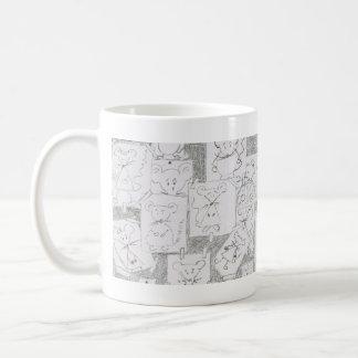 Draft of mouse basic white mug