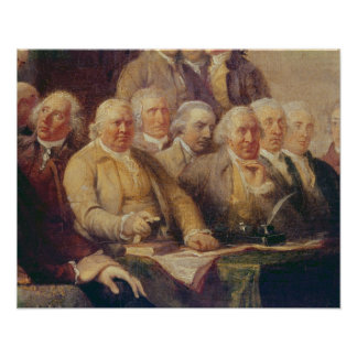 Drafting the Declaration of Independence Poster