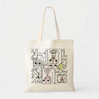 DRAFTS MOUSE PASTEL BUDGET TOTE BAG