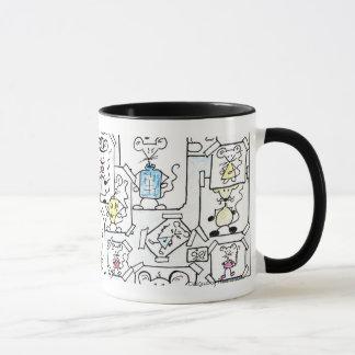 Drafts of mouse pastel mug