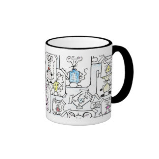 Drafts of mouse pastel ringer mug