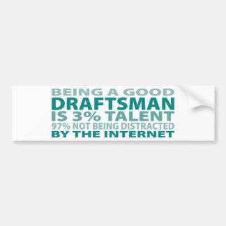 Draftsman 3% Talent Bumper Sticker