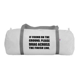 Drag Across Finish Line Gym Bag