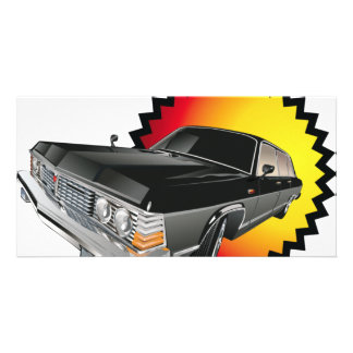 drag-car personalized photo card
