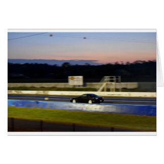 DRAG CAR RACING AUSTRALIA NISSAN SILVIA GREETING CARD