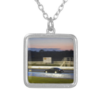 DRAG CAR RACING AUSTRALIA NISSAN SILVIA SILVER PLATED NECKLACE