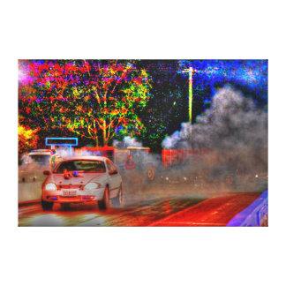 DRAG CAR RACING RURAL QUEENSLAND AUSTRALIA GALLERY WRAP CANVAS