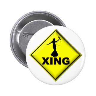 Drag Queen Crossing 6 Cm Round Badge