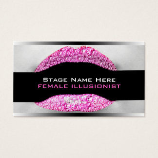 Drag Queen Hot Pink Diamond Bling Business Card