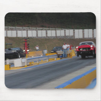 Drag Race mouse pad/wheel stand