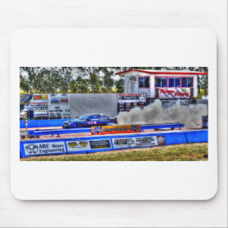 DRAG RACING ART EFFECTS RURAL QUEENSLAND AUSTRALIA MOUSE PAD