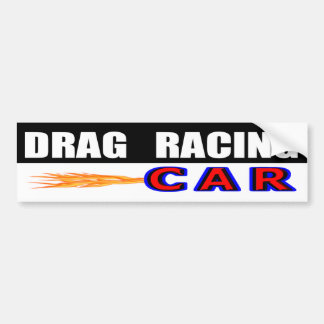 Drag Racing Car Bumper Sticker