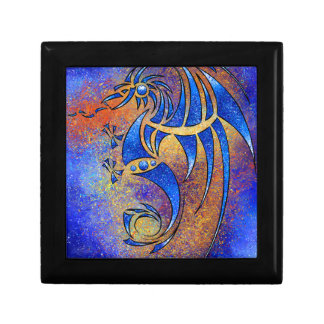 Dragissous V1 - blue dragon Small Square Gift Box