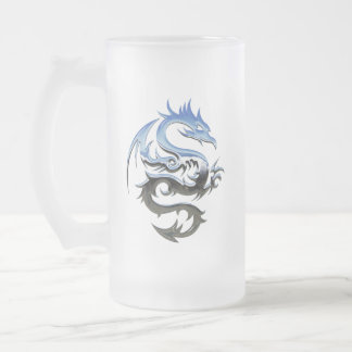 dragon-1721875 frosted glass beer mug