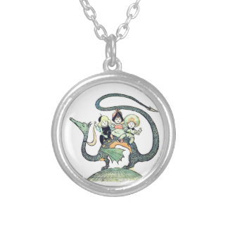 Dragon 3 Bold Babes Round Pendant Necklace