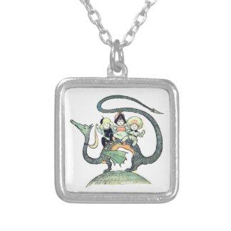 Dragon 3 Bold Babes Square Pendant Necklace