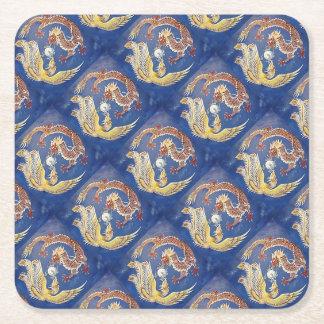 Dragon &a Phoenix Square Paper Coaster