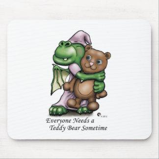 Dragon and Bear Mouse Pad