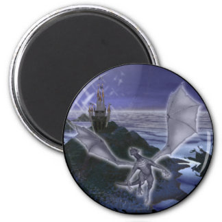 Dragon and Castle Magnet