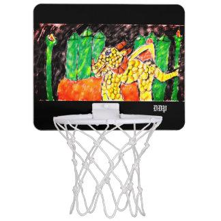 Dragon and emerald mini basketball hoop