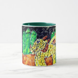 Dragon and emerald mug